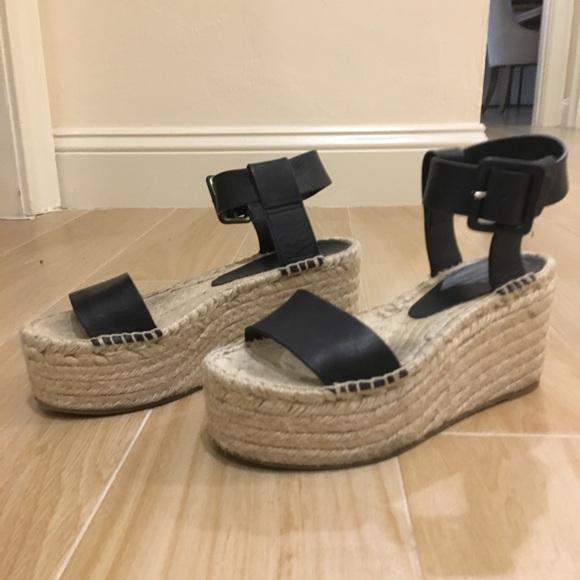 99edad2aa Vince Shoes | Black Abby Platform Espadrille Sandals | Poshmark